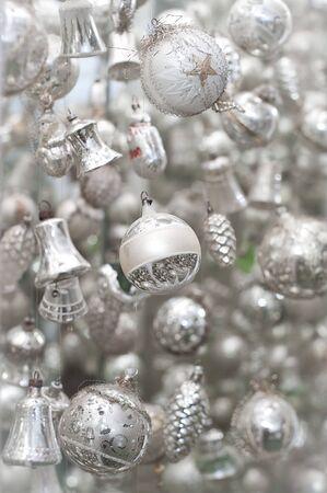 Antique silver Christmas Tree Decoration Stock Photo - 8319456