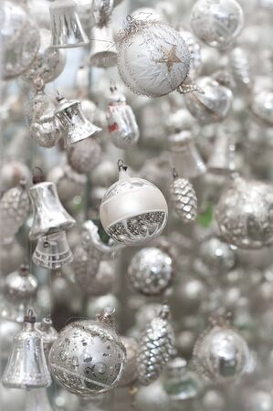 antique silver christmas tree decoration stock photo 8319456 - Antique Silver Christmas Decorations