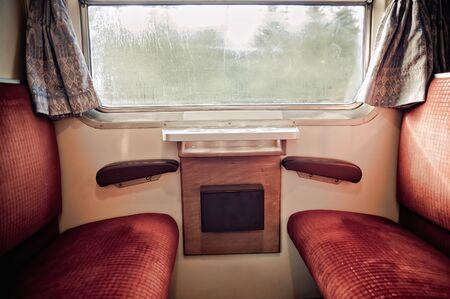 Inside a train Stock Photo