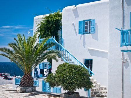 santorini: Apartment Stock Photo