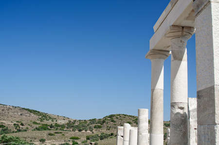 Columns in Delos, an Isle in Greece Stock Photo - 9090029