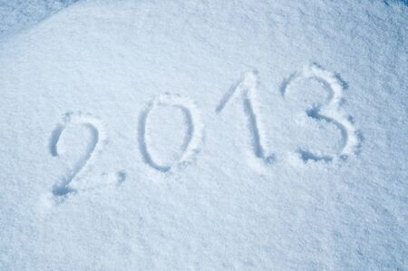 Year 2013 in snow photo
