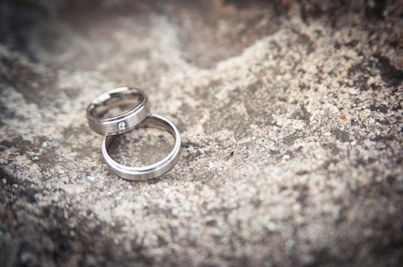 Two silver Wedding Rings photo