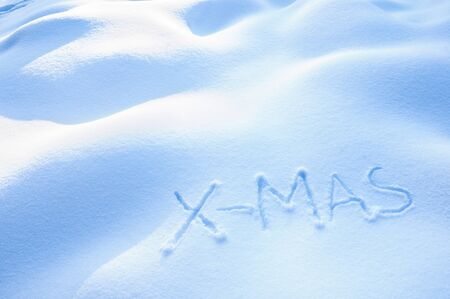 X-Mas written in the Snow Stock Photo - 16606353
