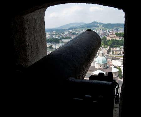 Antique Canon in the Fortress of Salzburg, Austria Stock Photo - 17260477