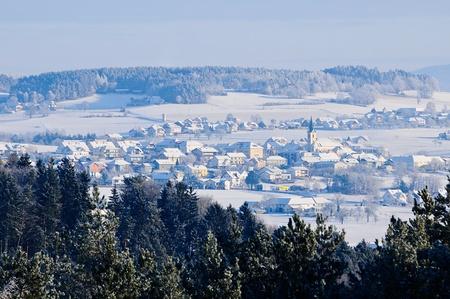 Village in Winter Landscape Stock Photo - 17284721