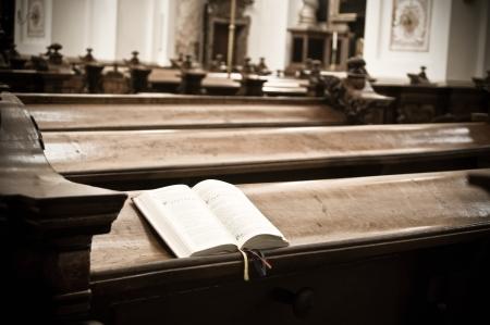 christian community: Open Hymnal inside of an austrian Church