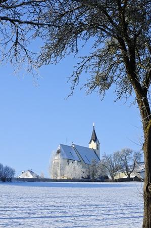 Church in Winter Landscape Stock Photo - 17424184