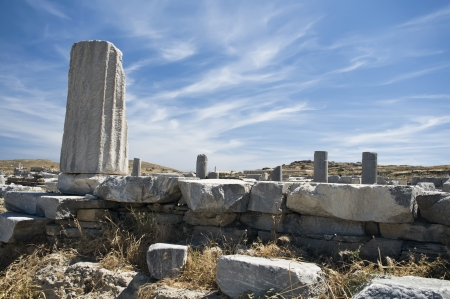 Column in Delos, an isle in Greece Stock Photo - 17474416