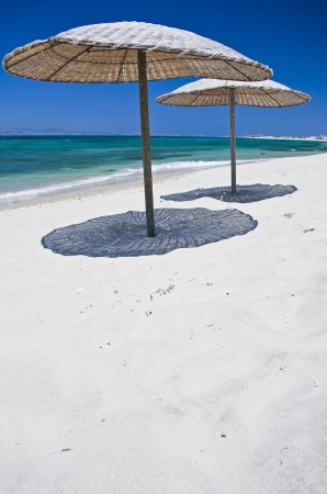 Sunshades on the Beach, taken in Naxos, Greece Stock Photo - 17967830