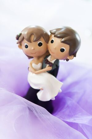 Cute Wedding Couple made from plasticine photo