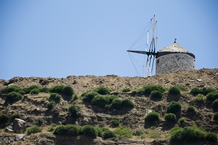 Obsolete Windmill in Naxos Stock Photo - 18129130