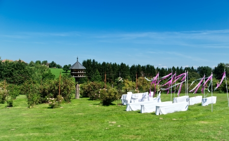 Beautiful outdoor wedding location, taken in upper austria photo