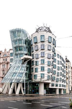 dancing house: Modern Building called Dancing House in Prague, Czech Republic