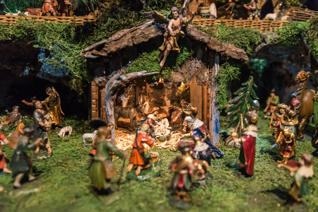 Historical Christmas Crib in Austria photo