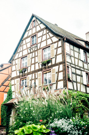 half timbered house: typical Alsace half timbered house, Strasbourg France