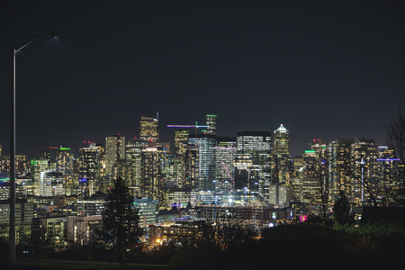 Downtown viewpoint from residential neighborhoods on Queen Anne Hill