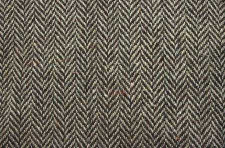 fleece fabric: coarse woollen fabric in a herringbone design