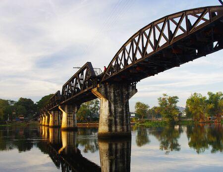 Bridge over the River Kwai on the Thai-Burma railway. Kanchanaburi Province, Thailand.