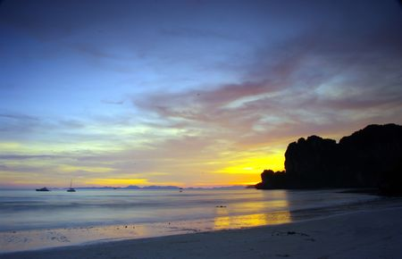 railay: West Railay Beach. Krabi province, Thailand