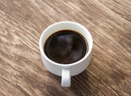black coffee and white cup Stock Photo - 16721271