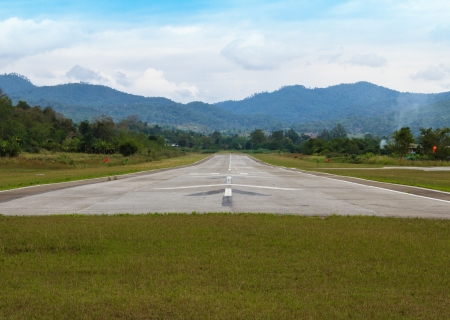 run way: Run Way Of Pai Air Port at Pai, Maehongsorn - North of Thailand