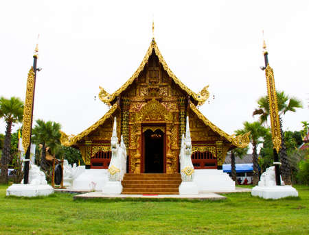 church of Wat Seedonchai at Pai, Maehongsorn - North of Thailand photo