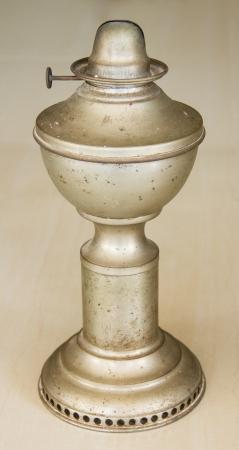 hurricane lamp: Old Hurricane lamp on floor Stock Photo