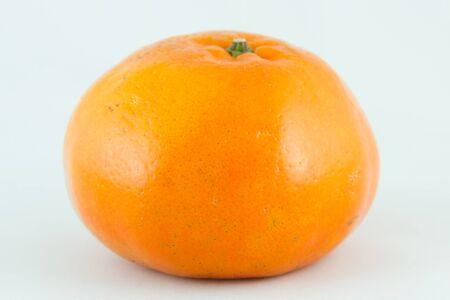 Orange on white background,Isolated photo