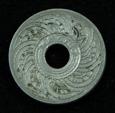 Old coin in Thailand, which is obsolete today photo
