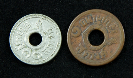 Old coins in Thailand, which is obsolete today Stock Photo - 17142855