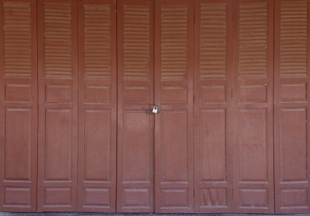 Old wooden door front view photo