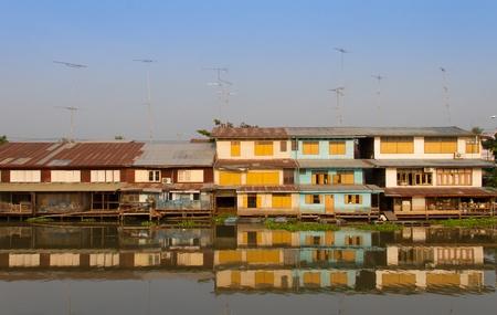 Waterfront home at Tachin River,Thailand photo
