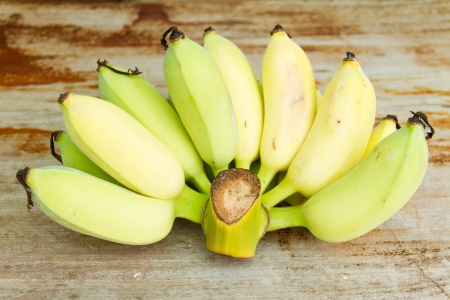 bananas on the wooden table