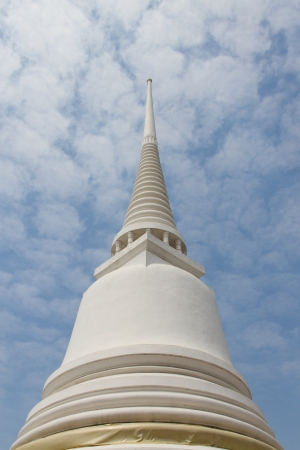White stupa and the White clouds photo