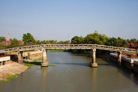 Bridge over the Tha Chin River,Thailand