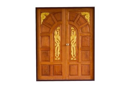 Dragon designed wooden doors photo
