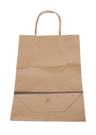 Paper bag are made from recycled paper photo