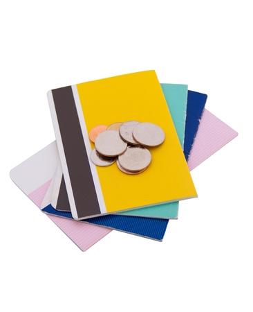 Saving Account Passbook  on white background Stock Photo