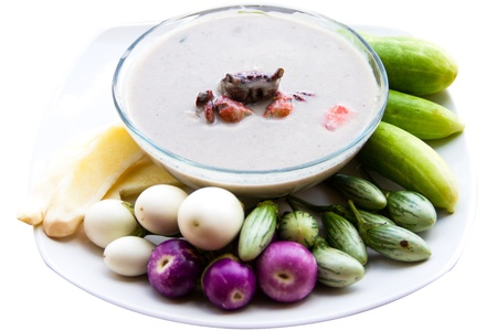 seafruit: stew crab with eggplant and cucumber