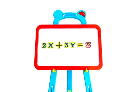 displaying: Whiteboard for displaying mathematical equations