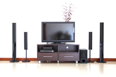 Home theater and the white wall