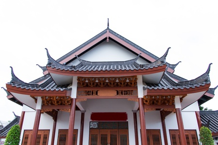 Chinese style building in Thailand photo