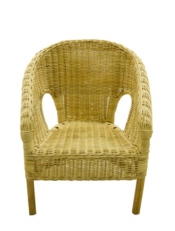 Sofa made of bamboo on white background photo