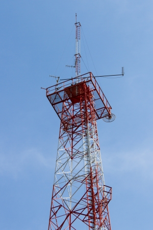 Radio antenna and the blue sky photo