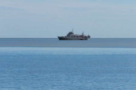 Coastal Patrol Craft in the sea