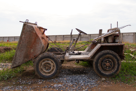Old Dumper Truck on a construction site