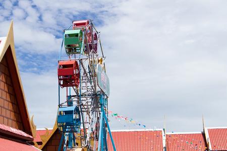 Ferris wheel at temple fair photo