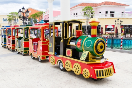 carnival train at amusement park