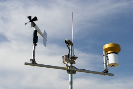 windmill style of anemometer - such weather monitoring